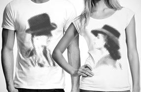 Las camisetas para parejas de película