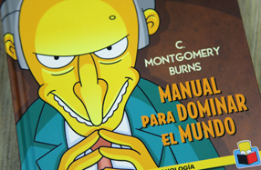 """Manual para dominar el mundo"" de Sr. Burns"