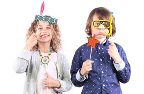 Kit de complementos para fotos y fiestas con niños
