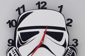 Reloj de pared Stormtrooper para fans de Star Wars