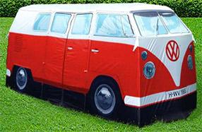 La tienda de campaña furgoneta hippy