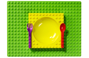 La vajilla de Lego más divertida para niños