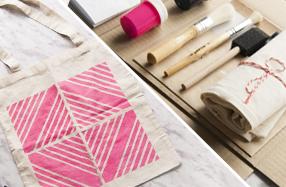 Kit de estampación con estarcido o stencil