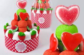 La tarta de gominolas más romántica