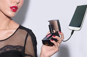 Batería portátil con forma de espejo de bolsillo