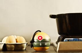 Temporizador de cocina con forma de bomba