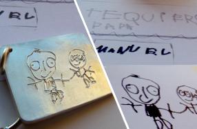 Joyas de plata personalizadas con el dibujo de tus peques