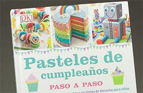 """Libro """"Pasteles de cumpleaños paso a paso"""""""