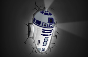 Lámpara 3D Star Wars: R2D2