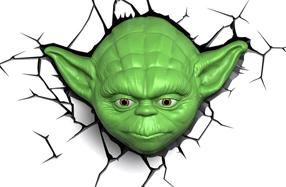 Lámpara 3D Star Wars: Yoda