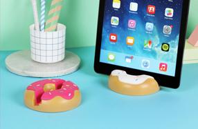 Soporte para tablet con forma de donut