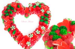 El corazón de chuches más romántico
